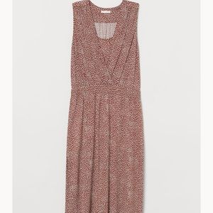 H&M Mama Maternity Nursing Dress Brown-Patterned